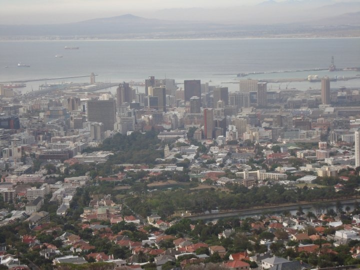 Cape Town view from the Table Mountain