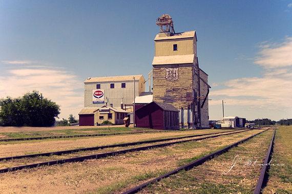 Highway to Stettler Grain Elevator by j2studiosphotography on Etsy, $30.00