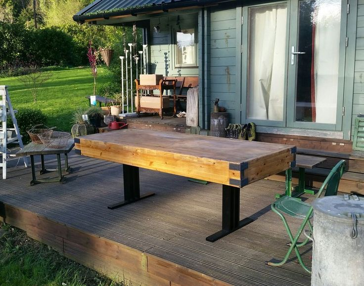 7ft pine butchers block dining table with a steel base 7ft x 3ft stunning in