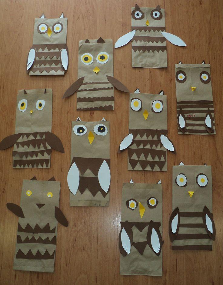 Sovičky z papírových sáčků