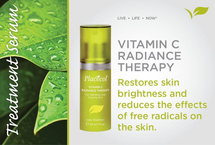 Vitamin C Radiance Therapy restores skin brightens and reduces the effects of free radicals on the skin.