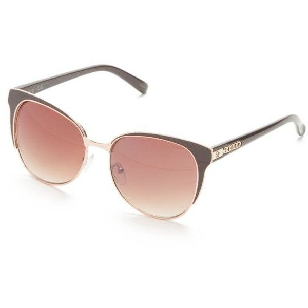 Jessica Simpson Brown Sleek Plastic Retro Clubster Sunglasses (120 BRL) ❤ liked on Polyvore featuring accessories, eyewear, sunglasses, brown, retro glasses, brown glasses, jessica simpson sunglasses, retro style sunglasses and jessica simpson glasses