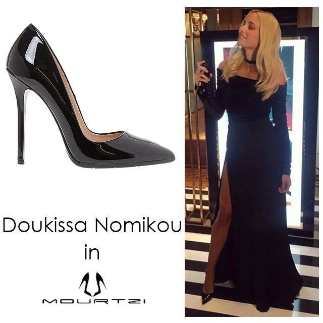 ΔΟΥΚΙΣΣΑ ΝΟΜΙΚΟΥ doukissa nomikou in Mourtzi shoes www.mourtzi.com #blackpumps #doukissa #sexy