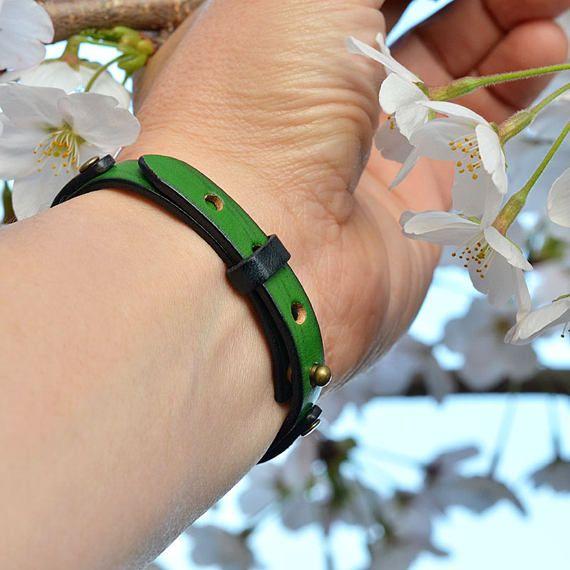 Genuine Italian Leather Bracelet. Men's. Unisex.