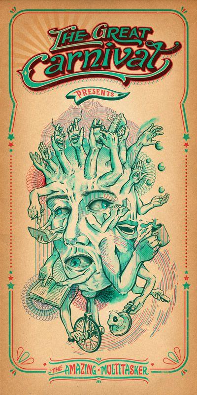 The Great Carnivale by Eric van den Boom, via Behance