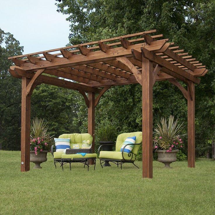 Backyard Discovery Cedar Pergola 10 x 12 (Cedar Wood ... on Backyard Discovery Pavilion id=14292