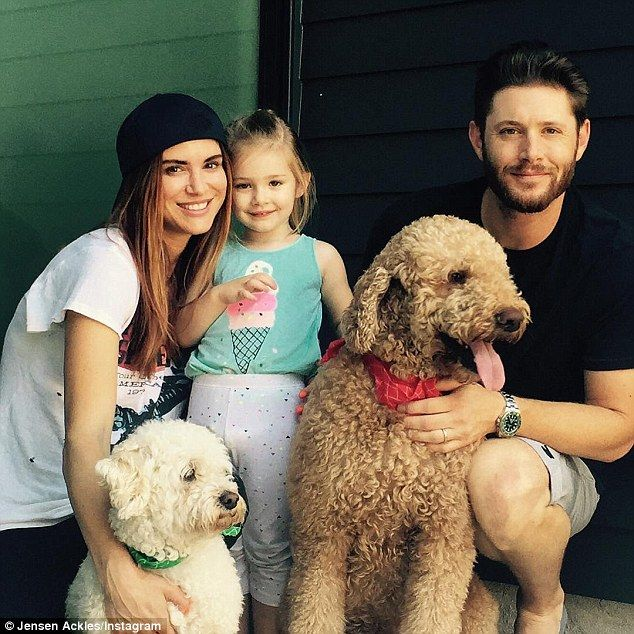 Happy family: In 2013, Jensen and Danneel welcomed their first child, daughter Justice Jay. Two pups complete their family