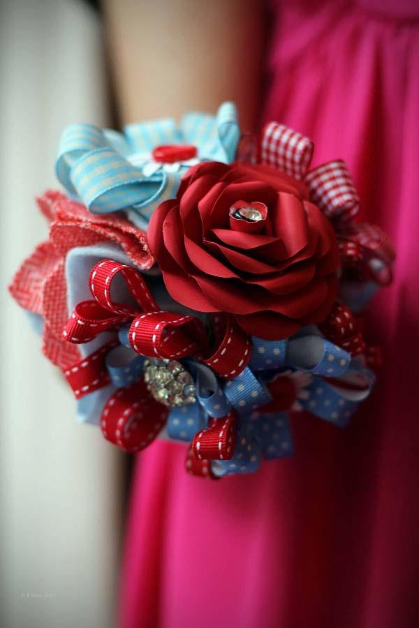 21 best ribbon flower bouguet images on Pinterest   Bridal bouquets ...