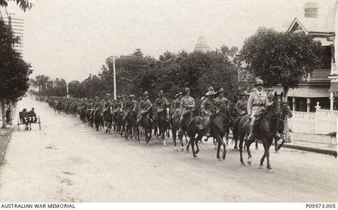 The 10th Australian Light Horse embarkation..