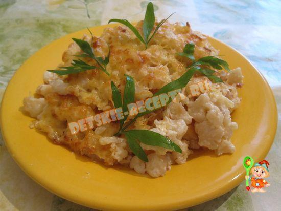 цветная капуста в духовке со сметаной и сыром