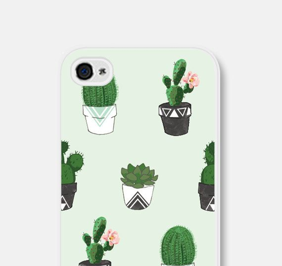 Succulent iPhone 6 Case Cactus iPhone 5 Case by fieldtrip