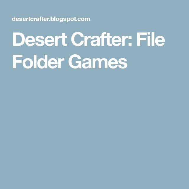 Desert Crafter: File Folder Games