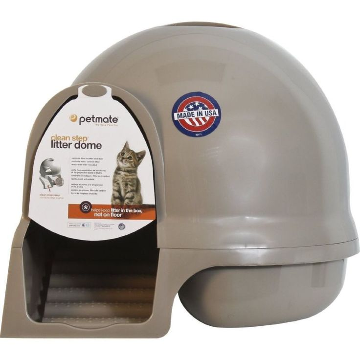Booda Dome Cleanstep Cat Covered Litter Box BRUSHED NICKEL BRAND NEW Litterbox - http://pets.goshoppins.com/cat-supplies/booda-dome-cleanstep-cat-covered-litter-box-brushed-nickel-brand-new-litterbox/