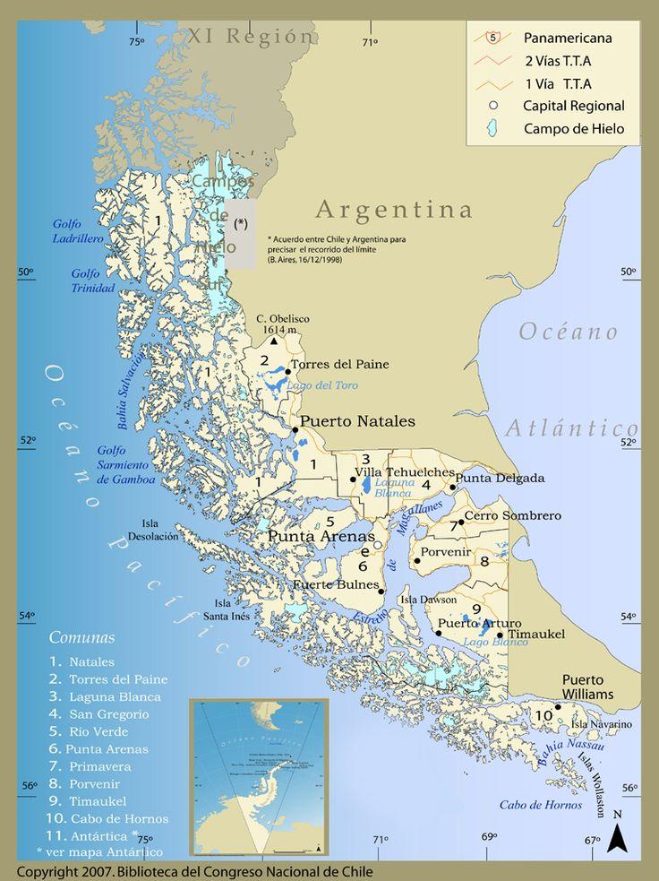 Décimo Segunda Región de Magallanes y Antartida, Capital PUNTA  ARENAS