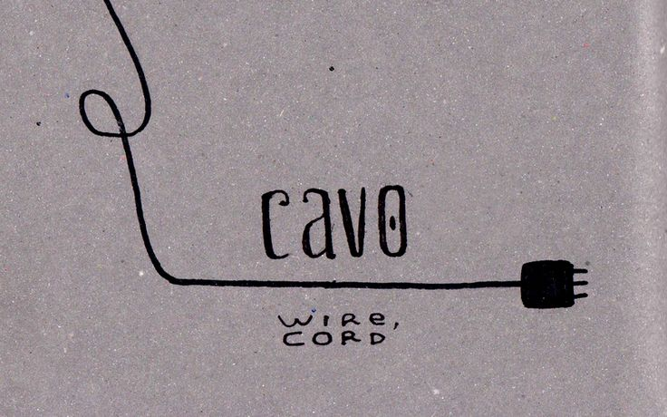 Learning Italian Language ~  Cavo (wire cord)