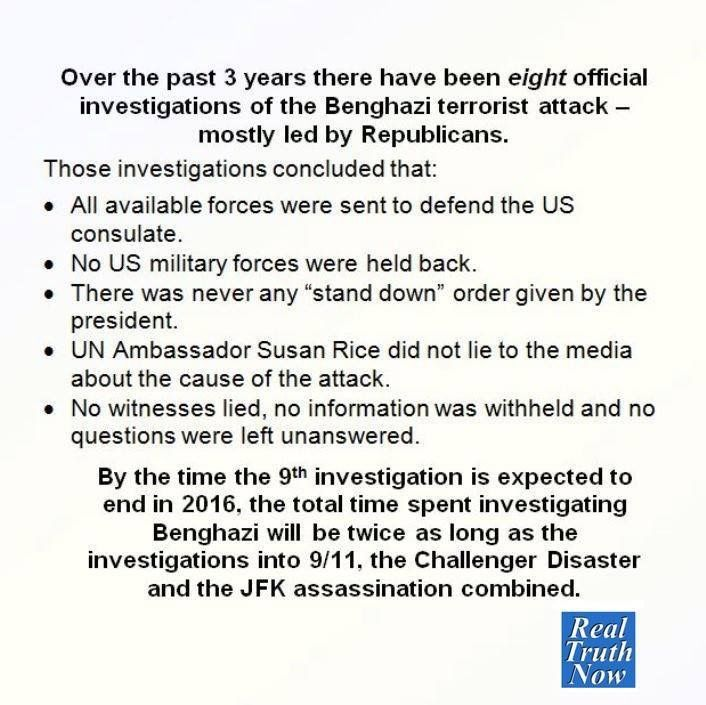 Petraeus was head of the CIA.  Benghazi was a CIA operation.  Why wasn't Peyraeus called in for 27 investigations?
