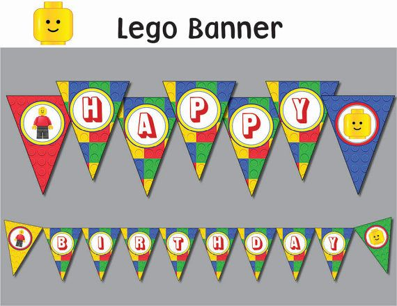 LEGO banner Printable all letters INSTANT DOWNLOAD by OrShaJo