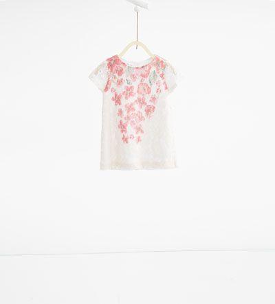 Jurk met print en zijden kant-JURKEN-Baby meisje | 3 maanden - 3 jaar-KINDEREN | ZARA Nederland