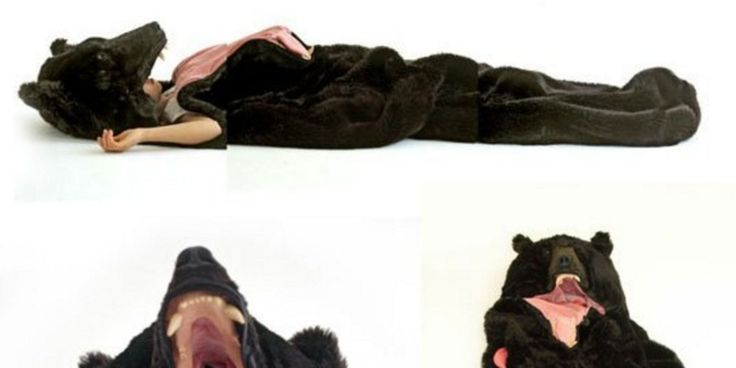 Here's a bear sleeping bag for all your winter hibernation needs