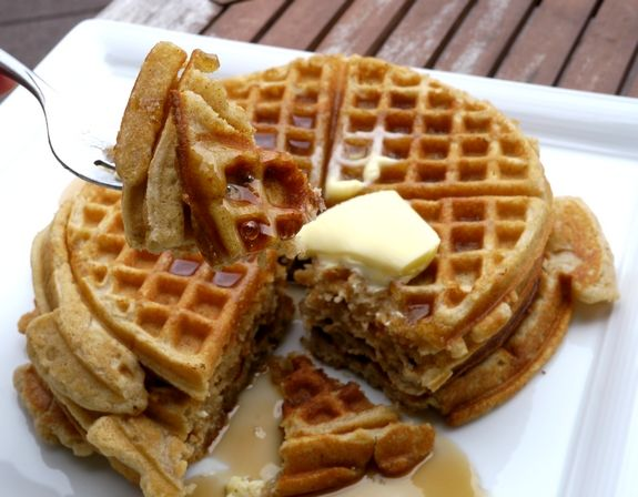 Brown Butter Pumpkin Spice Belgium Waffles are perfect for a pre holiday brunch