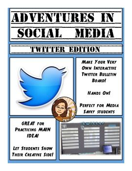 This file contains instructions on how to create an interactive Twitter bulletin board, and a lesson plan to accompany it. It also has a template for the twitter lettering.