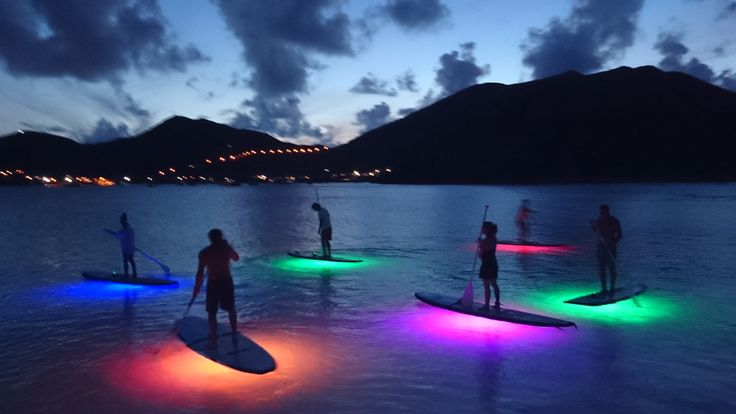 Sunset standup paddle board tour in St Maarten