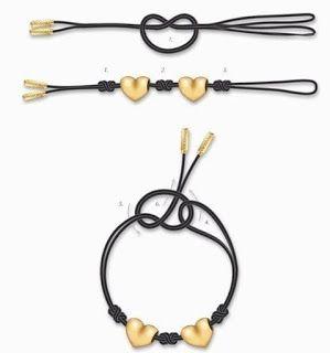 Relasé: Bijoux Fai da Te - un bracciale bicolore di cordone. Tutorial fotografico