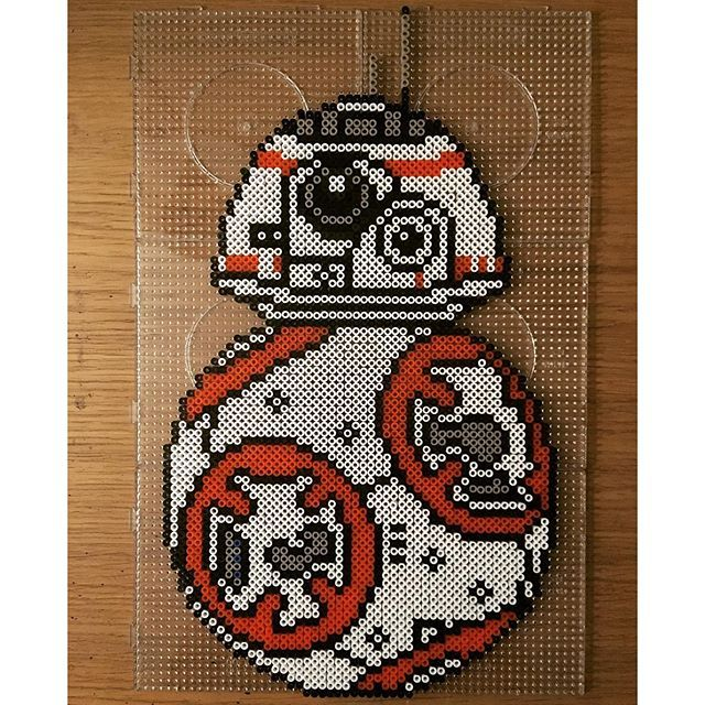BB-8 - Star Wars:The Force Awakens hama perler beads by pixtille