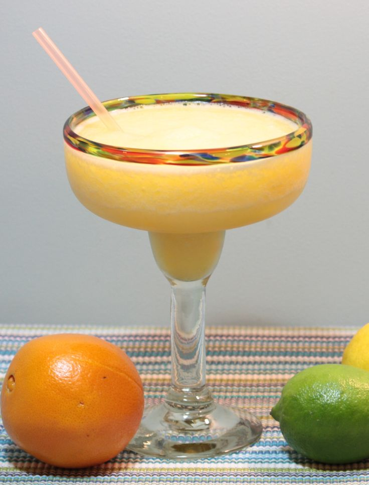 Fresh fruit margarita. Very delicious tequila mixed drink.