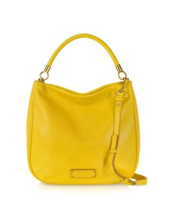 Too Hot to Handle Leather Hobo bag in bright yellow. Great purse for Spring 2016!