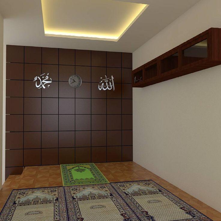 Hiasan dinding mushola minimalis