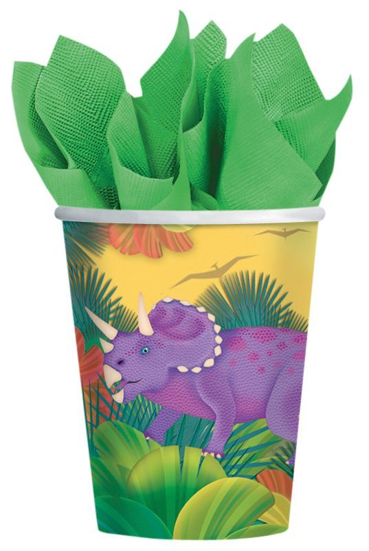 Kubeczki papierowe Dinozaury. Zainteresuj swoje dziecko kolorowym, dawnym światem.