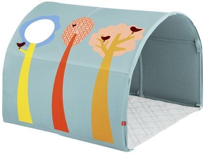 A Tunnel of fun #clean #room #storage #déco #design #kids #safe #scandinave #europeen #Flexa #play #curtains #bed