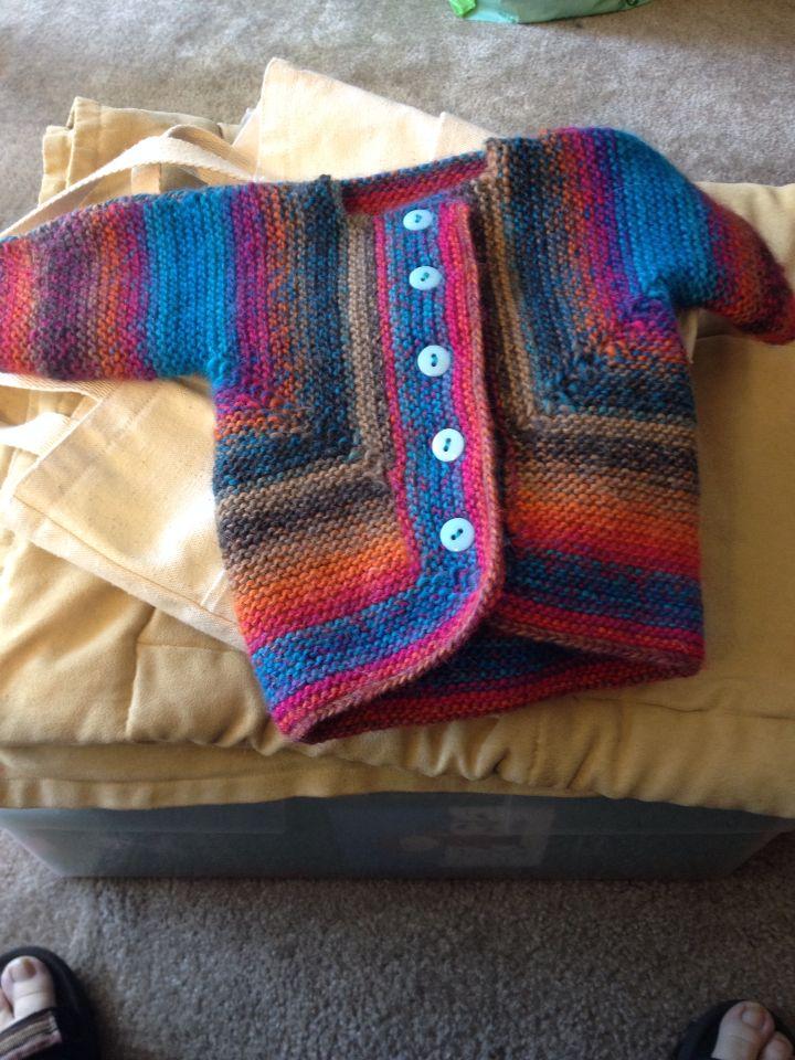 Elizabeth Zimmerman's Surprise Jacket I made for a friend's baby boy!