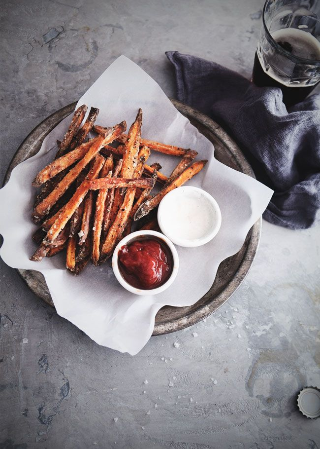 Baked Sweet Potato Fries » The Tart Tart |  maybe reduce olive oil to reduce ww pts?