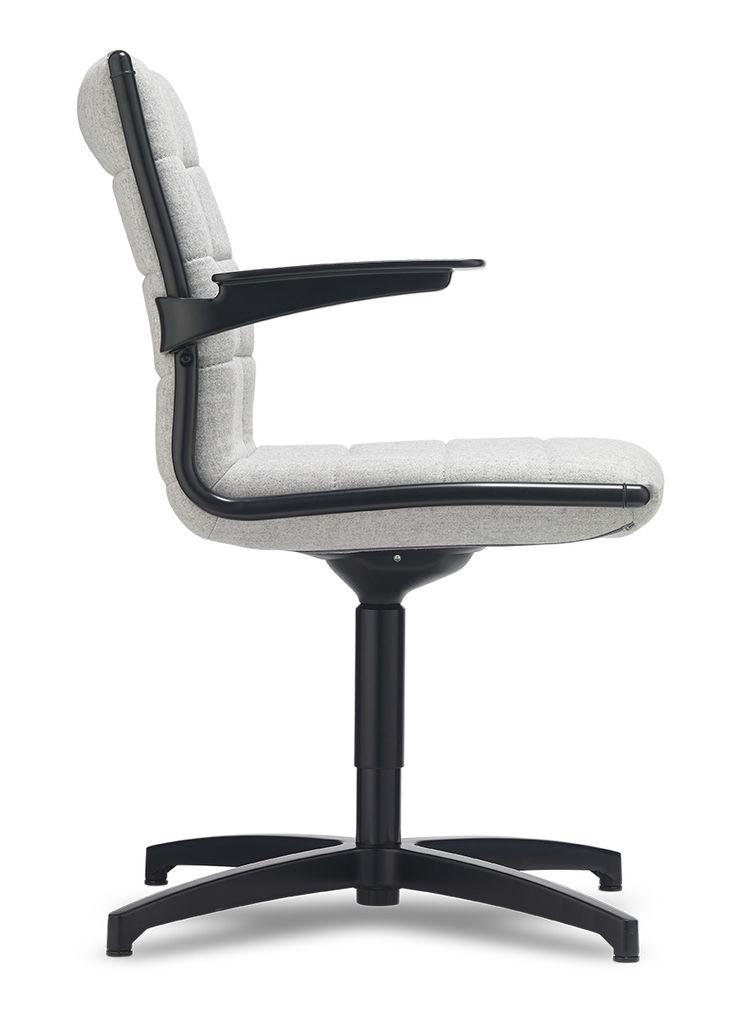 Jednací židle Vega HIT meeting s černými kovovými prvky