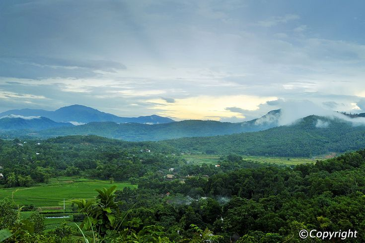 Ba Vi National Park is one of Vietnam's most famous areas of outstanding natural beauty, and is centered around a three-peaked mountain jutting steeply out of the landscape. The national park offers a great escape from the city with cool fresh mountain air in a mystical atmospheric backdrop