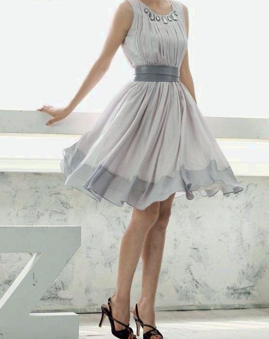 Chiffon Party dress on Etsy by seller: ilikedress So beautiful.: Pretty Dresses, Flowy Dresses, Bridesmaid Dresses, Parties Dresses, Cute Dresses, Chiffon Parties, Chiffon Dresses, Grey Dresses, Gray Dresses