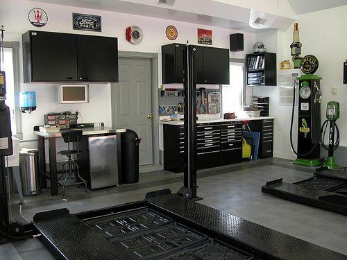 133 best images about sick home garages on pinterest for Custom garage workshop