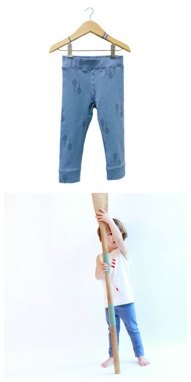 Dusk-blue rackets leggings- lötiekids