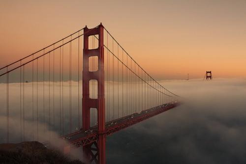 SF...bridge in the mist. Take the leap of faith! Step onto the invisible bridge!