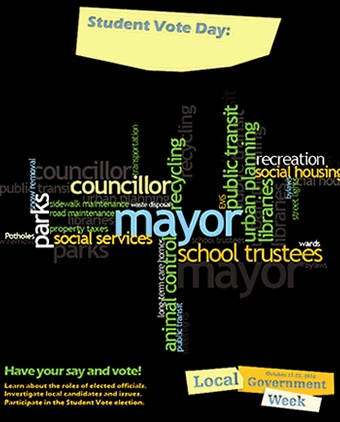 Student Vote 2010 Ontario Municipal Election Poster