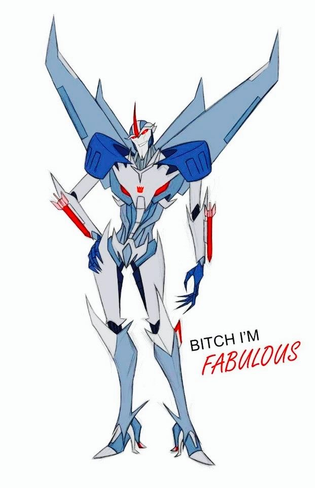 Transformers Prime Starscream in a nutshell.