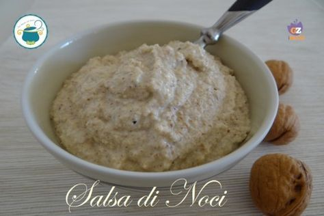 Salsa di noci – ricetta senza aglio e senza panna –