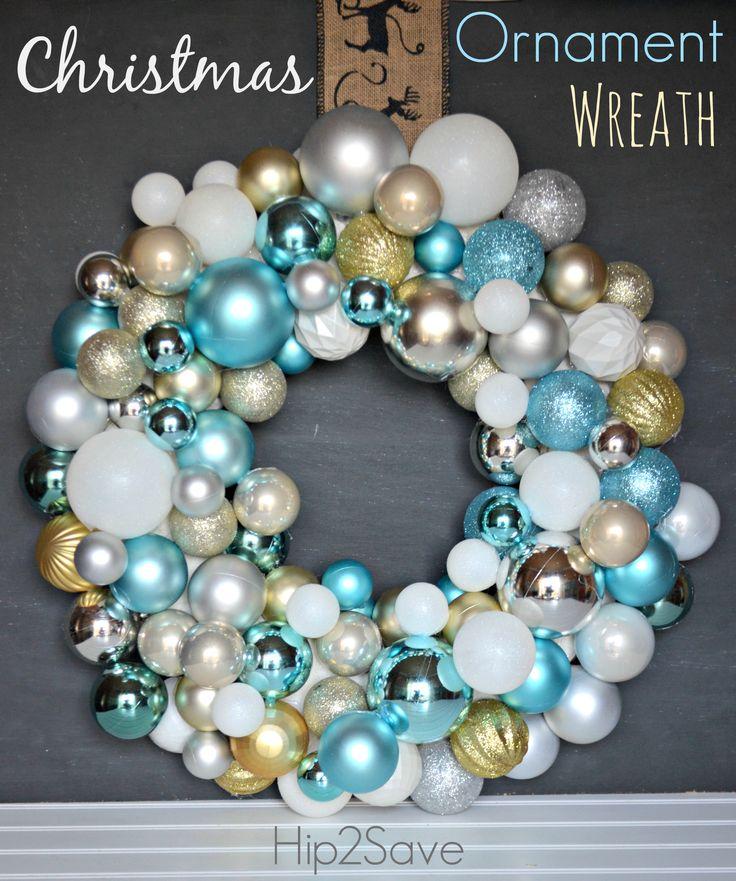 Make a Christmas Ornament Wreath (Holiday Craft)