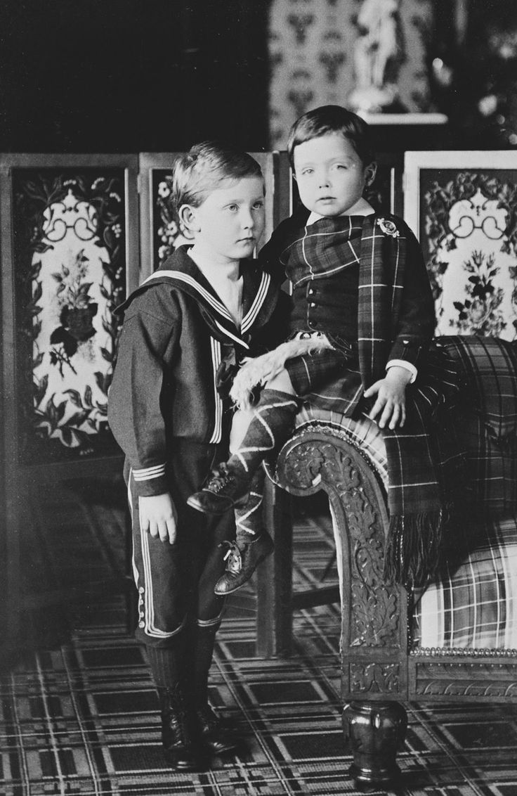 The Royal Collection: Prince Arthur of Connaught and Charles Edward, Duke of Albany, 1888 [in Portraits of Royal Chil