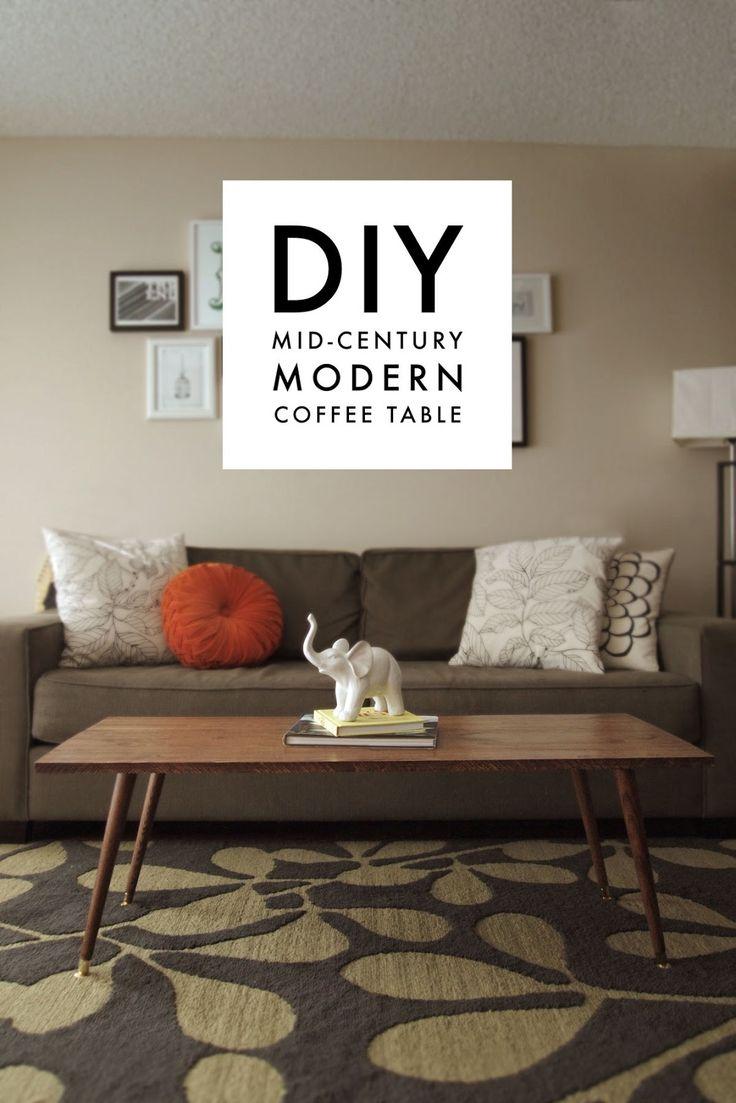 DIY Mid-Century Modern Coffee Table – A Pair of Pears