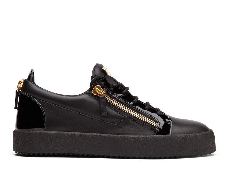 Sneakers Giuseppe Zanotti - Za SneakerF Bas Noir en cuir et vernis noir