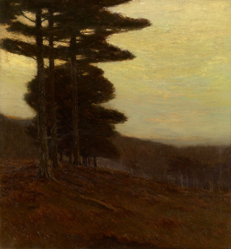 """""""Forest Edge,"""" Charles Warren Eaton, 1904, oil on canvas, 30 × 28"""", private collection."""