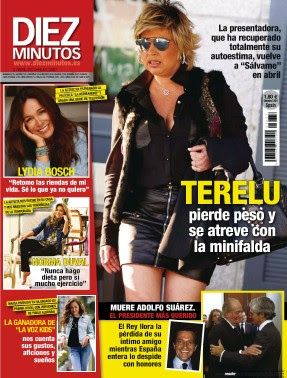"REVISTA DIEZ MINUTOS - ""Terelu adelgaza y se atreve con minifalda"" #elglobo #villaobispo #villaquilambre #leonesp VEN A KIOSCO EL GLOBO"